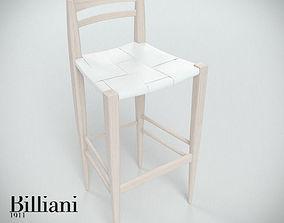 Billiani Vincent VG stool 444 white 3D model fresh