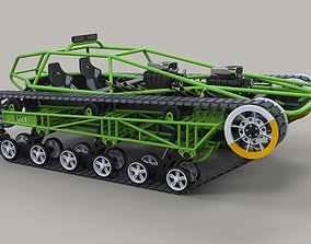 Concept tracked vehicle twin-engined 3D