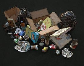 3D asset Urban Trash with Garbage Bags