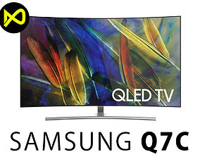 3D model Samsung Q7C 55 Inch Curved QLED 4K TV