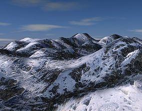 3D model snow mountains terrain