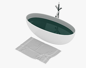 residential-space Bath Tub 3D