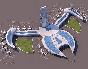 Air Port Organic Form 3D