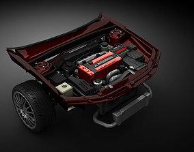 Car Engine motor 3D