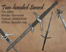 Two-handed Sword Low poly 3D model