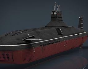 Submarine Typhoon-class 3D asset