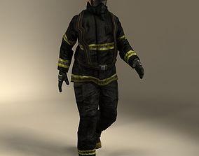 3D model rigged Fireman Rig
