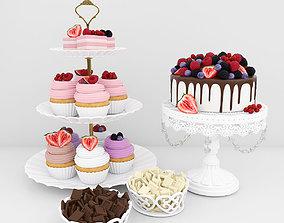 Berry dessert 3D model