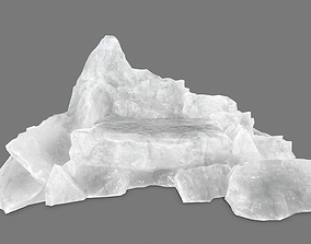 sand 3D asset low-poly rocks
