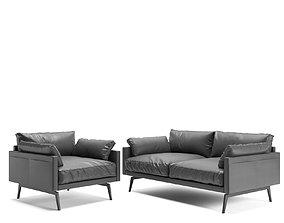 Tan sofa 3D model