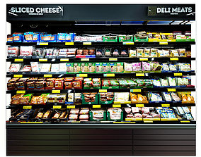 market Cheese Fridge 3D model