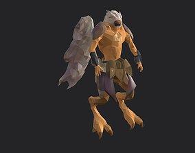3D asset Bird humanoid