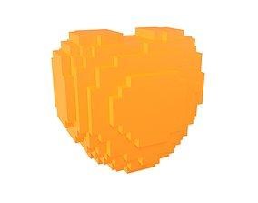 Voxel Heart v1 005 3D model