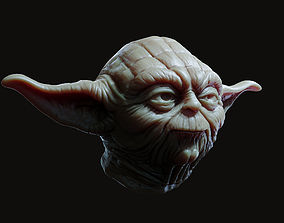 sculpture Yoda Head 3D print model