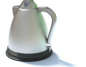 Silver Tea Kettle 3D