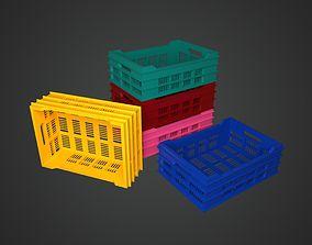 Plastic Crates 3D model