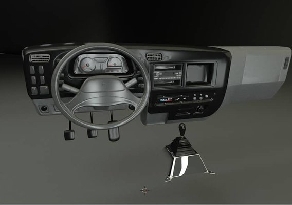 INTERIOR MITSUBISHI ROSA 3D MODEL