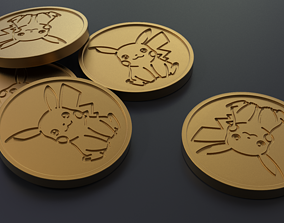 Pokemon - Collectable Pikachu Coin 3D print model