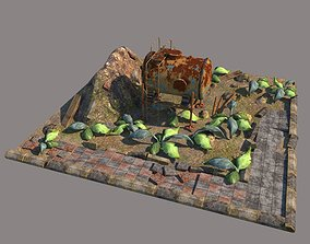 Used as few polygons as possible 3D asset