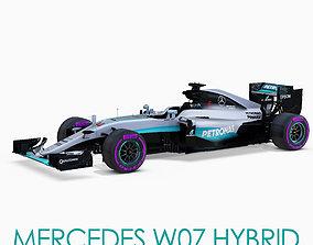 Mercedes W07 car 3D asset
