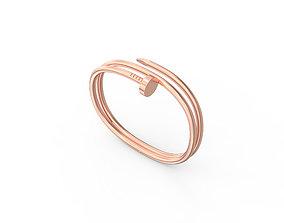 3D print model silver Nail Bracelets Size 190mm
