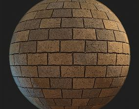 Sandstone brick tile 3D model