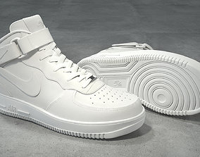 Nike Air Force 1 Mid white 3D model