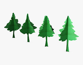 3D model Conifer Tree Paper v 1
