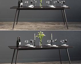 Rectangular Fen Dinning Table 3D model