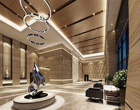 3D Office building Reception lobby Reception area Leisure