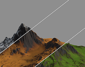 Stylized Low Poly Terrain - Mountain 3D asset
