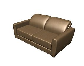 3D model realtime Couch Basic Style