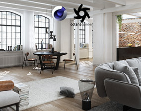 3D Workshop Apartment in London Cinema 4D and Octane