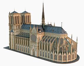 3D Notre Dame de Paris Cathedral