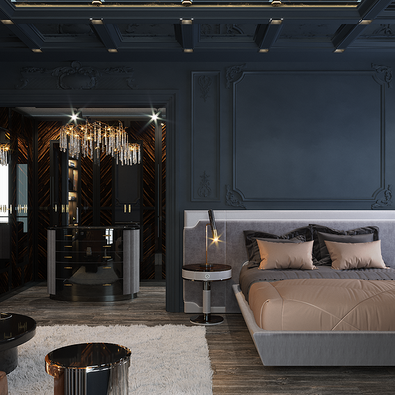 Black Bedroom _3dmax_Corona