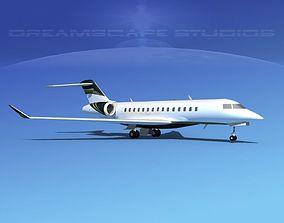 3D model Bombardier Global 5000 V08