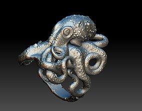 Octopus ring 3d model 3D print model