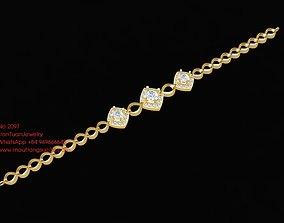 2097 Diamond Bracelets 3D printable model