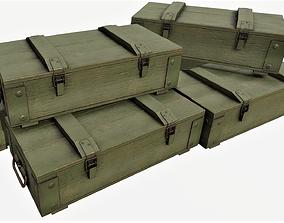 3D model Ammunition Wood Crates 01 - PBR