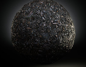 3D model Scanned Seamless Wood Chips Ground PBR Textures