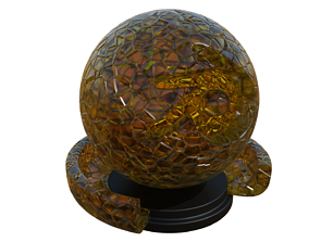 Decorative Glass 3D model VR / AR ready