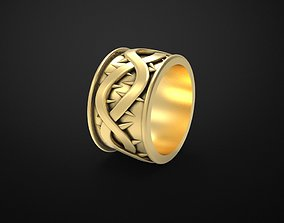 3D printable model thorn wedding ring