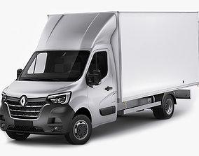 3D Renault Master Box Truck 2019