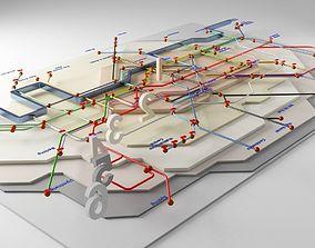 London Underground Map 3D