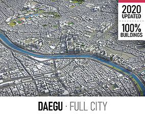3D asset Daegu - city and surroundings