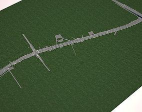 crosswalk Highway Road 3 3D model