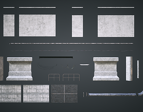 3D model Sewers Modular Setup