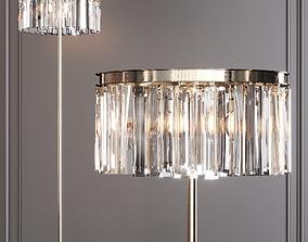 RH 1920S ODEON RHYS CLEAR GLASS FLOOR LAMP 2-TIER 3D 1