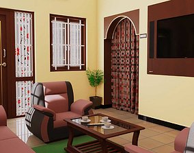 PBR beverly Interior Living Room 3d Model