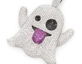 Ghost emoji diamond pendant shine 3D printable model